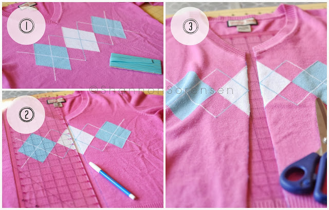 refashion your old sweater into a cardigan with this tutorial