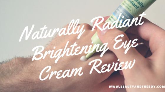 Superdrug Naturally Radiant Brightening Eye Cream Review