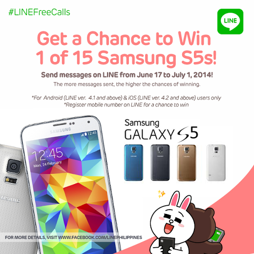 Line Free Calls Samsung Galaxy S5