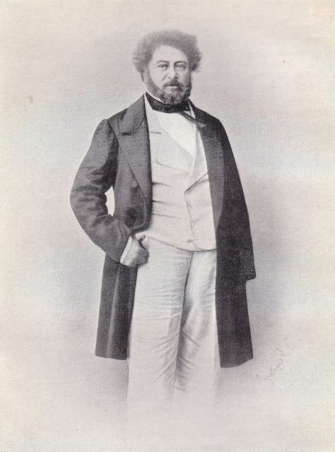Alexandre Dumas (father), 1860, by Gustave Le Gray