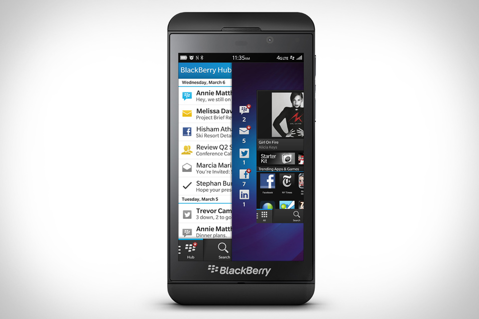 The Blackberry Z10 Simple smartphone. New BLACKBERRY Z10 Powered by the all new BlackBerry 10 OS. The BLACKBERRY Z10 features Front 2-megapixel and Rear 8-megapixel cameras,