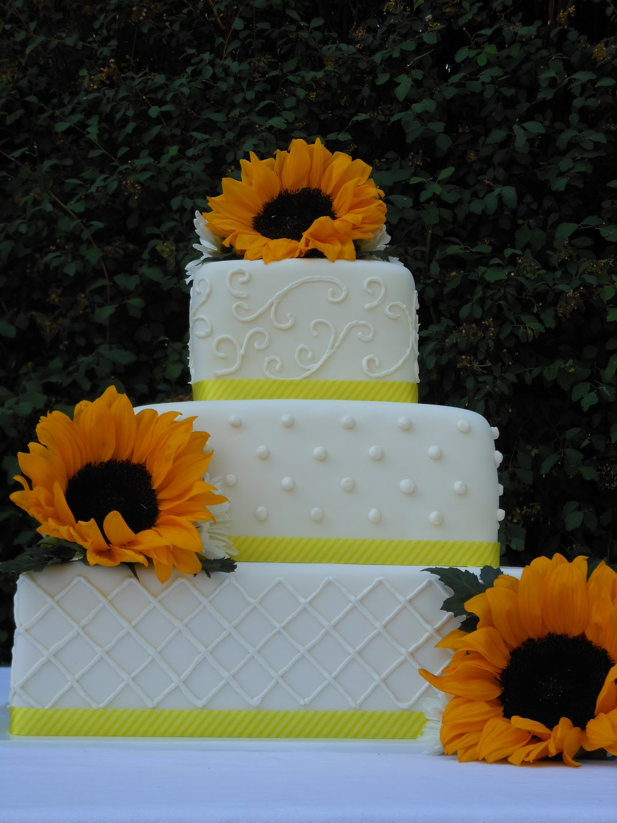 Sunflower Wedding Cakes Cake Ideas and Designs