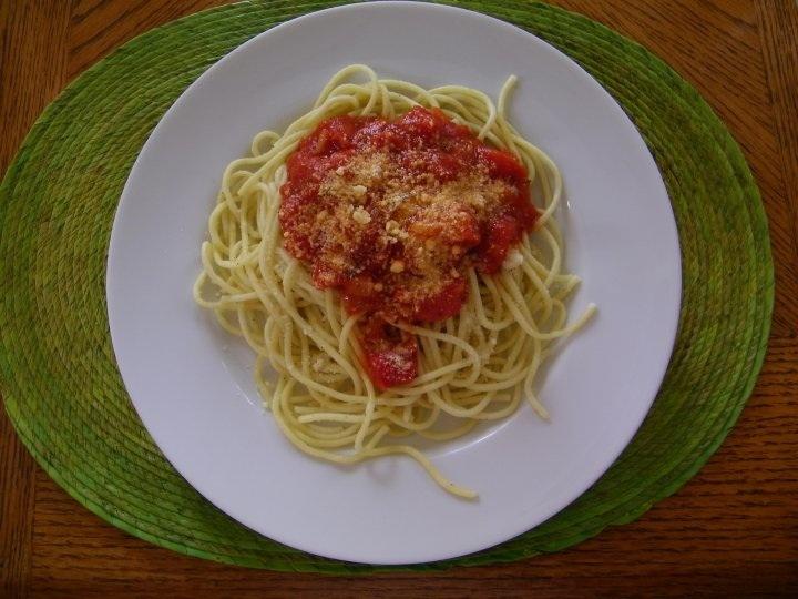Jane Creative Corner: Spaghetti with ground beef pasta sauce