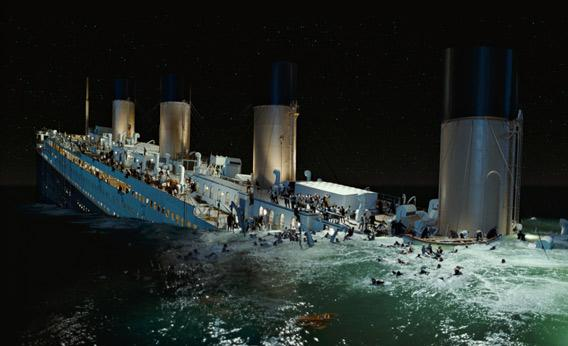 The Titanic sinking