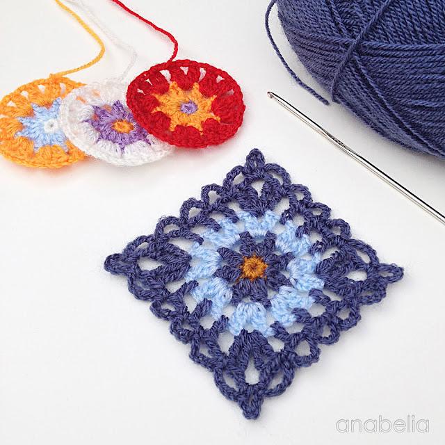 Be-Boheme blue scarf motif by Anabelia Craft Design