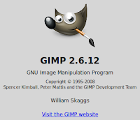 Gimp 2.5.12 (screenshot image) can be found natively on Linux Mint 13