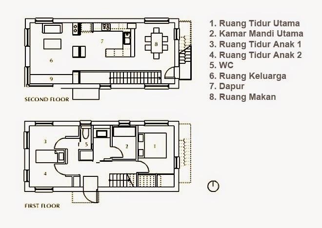 bentuk denah rumah minimalis jepang sederhana kamakura