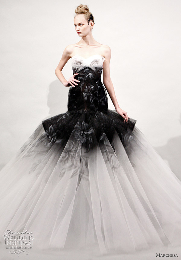 These are Marchesa Spring Summer 2011 Readytowear wedding dresses