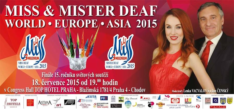 VYHLÁŠENÍ MISS MISTER DEAF WORLD * EUROPE * ASIA  a budou představeny na WORLD HANDICAPPE SHOW