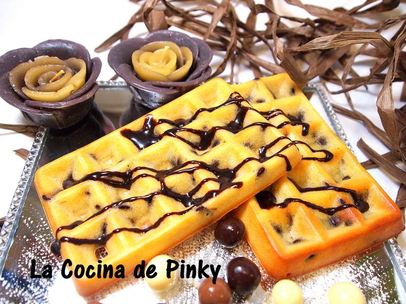 Gofres Al Horno Con Chips De Chocolate
