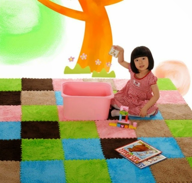 baby puzzle mat, kids room puzzle decor
