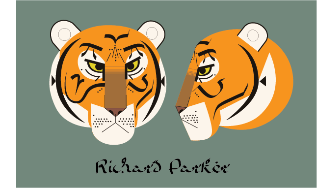 Yeb kamin life of pi richard parker head for Life of pi character development