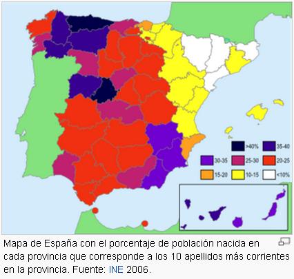 Cules son los apellidos ms comunes de Espaa y en qu regiones