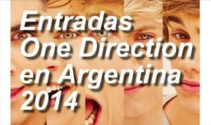 entradas One direction en la argentina 2014 baratas