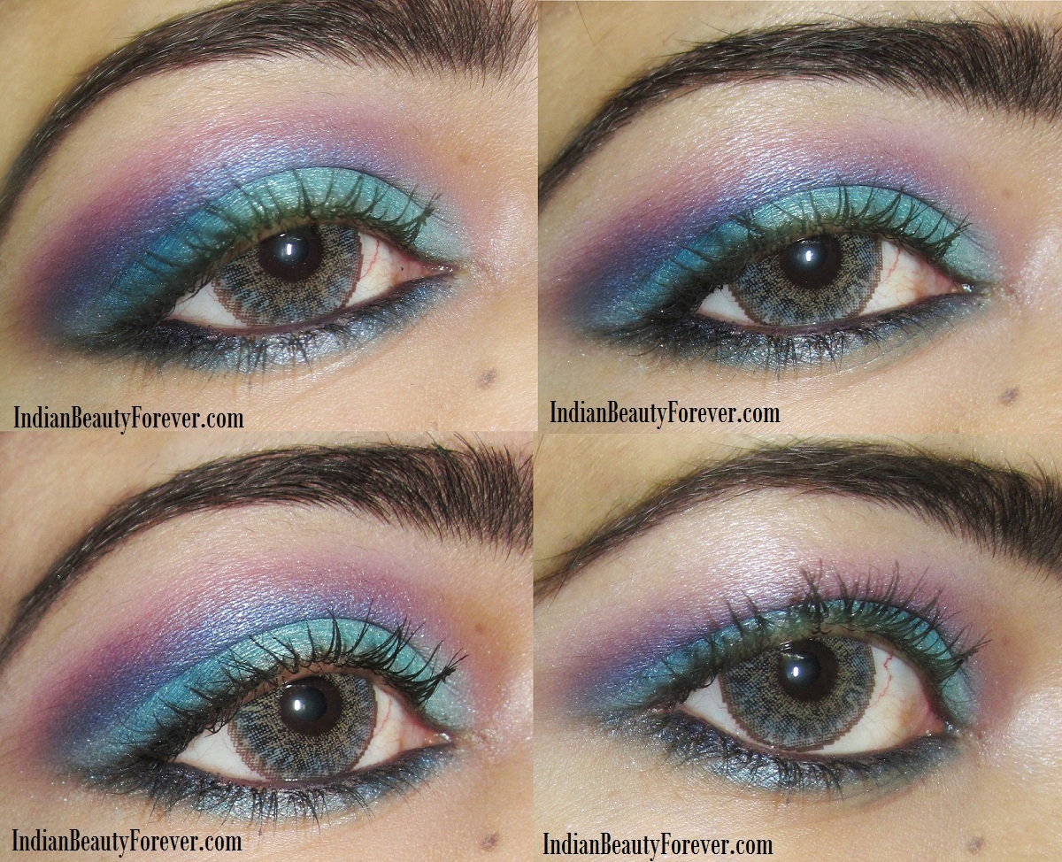 Bright Blue Eye makeup Step by step tutorial