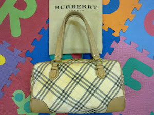 Burberry Blue Label Signature Canvas Satchel(SOLD)