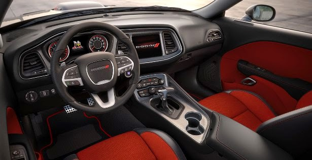 Interior view of 2015 Dodge Challenger SXT Plus
