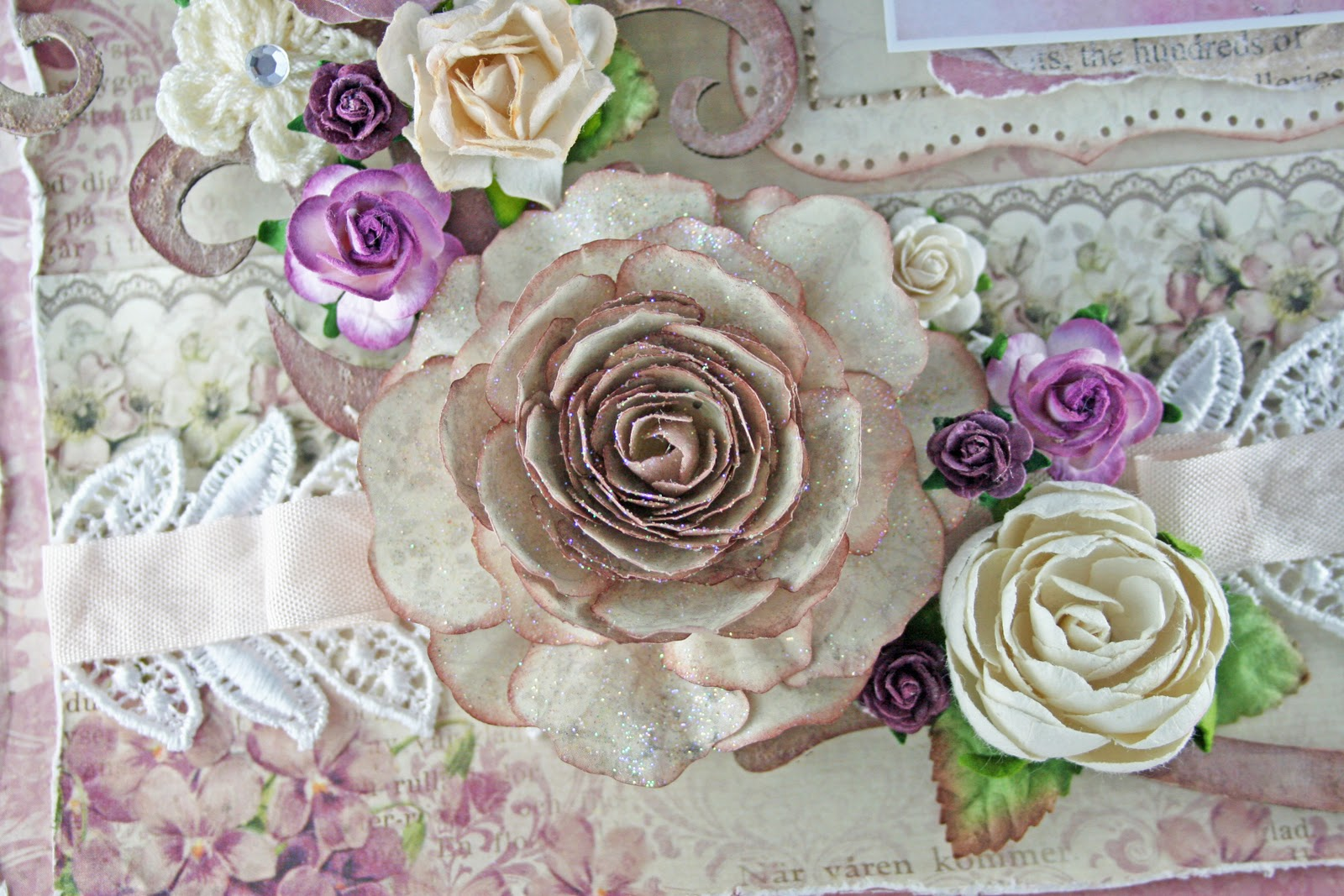 Moments Of Tranquility By Natasha Naranjo Aguirre Cabbage Rose Tutorial