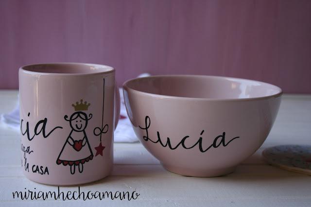taza y plato hecho a mano