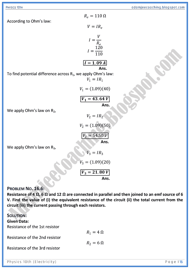 electricity-solved-numericals-physics-10th