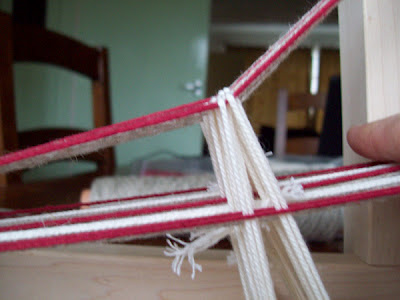 The open shed on an inkle loom