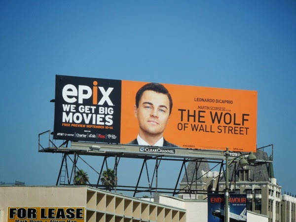 Wolf of Wall Street Epix movie billboard