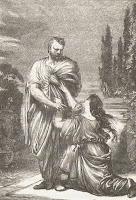Grabado de la obra de Shakespeare Julio César
