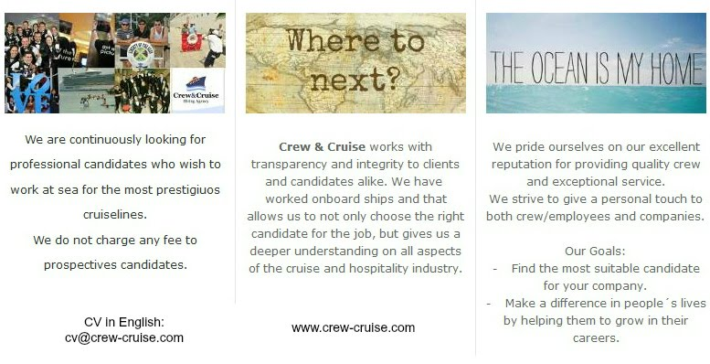 Where to next? Go with Crew & Cruise!