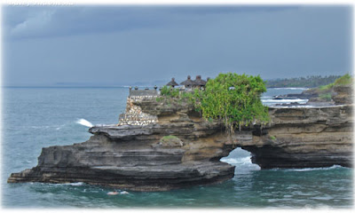 Tanah Lot is a tourist attraction in Bali