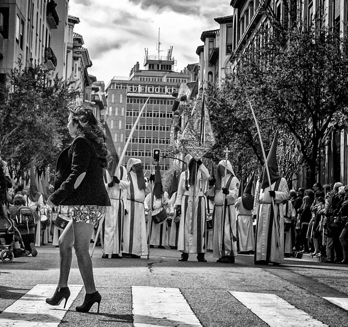 Semana Santa Zaragoza 2015 - Holy Week Spain - Street Photo B&N