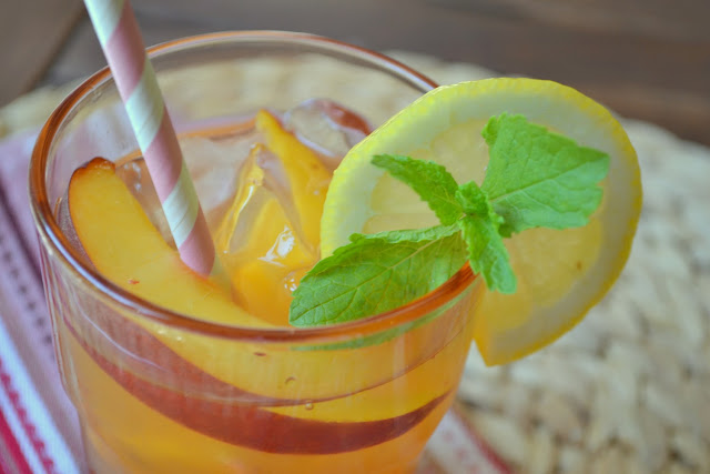 Tipsy Peach Iced Tea Lemonade recipe