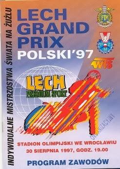 AUG 30 1997 SPEEDWAY STAR WROCLAW GRAND PRIX