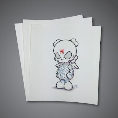 """Skullhead Blank """"Skullhead Coloring"""" Print by Huck Gee"""