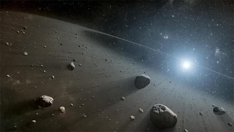 Meteorito peligroso para la tierra.