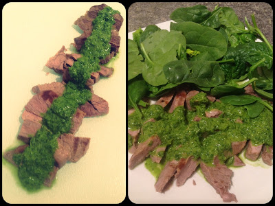 ... in a Paleo World: Grilled Steak with Roasted Jalapeño Chimichurri