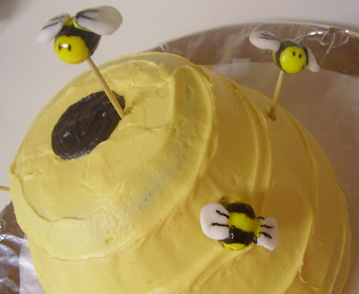 Winnie the Pooh Beehive Cake - Close-up of Bees