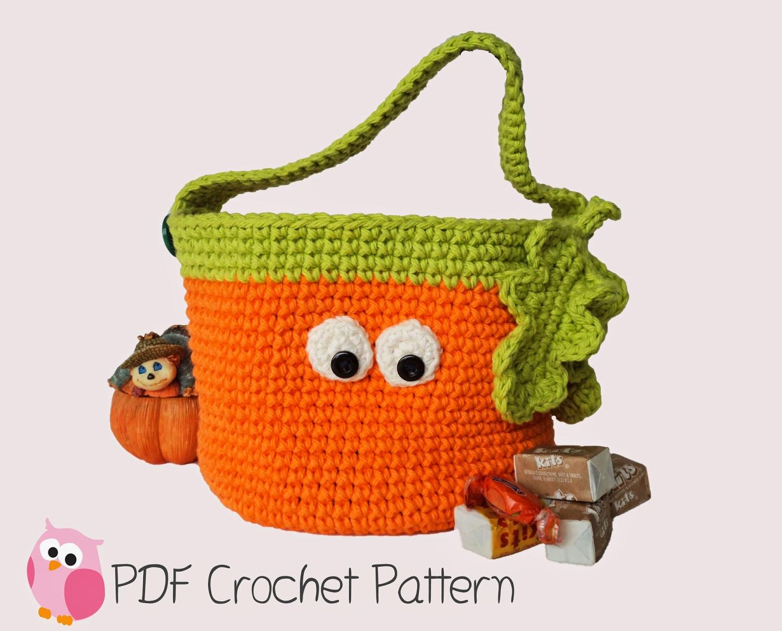 Cute Little Crafts: Crochet Pattern: Halloween Pumpkin Basket