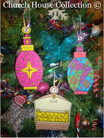 Gold Frankincense Myrrh Ornaments