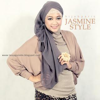 Cara Memakai Kerudung Paris Jasmine Style