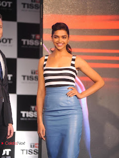 Deepika Padukone Pictures in Leather Skirt at New Tissot Watches Launch  0008.jpg