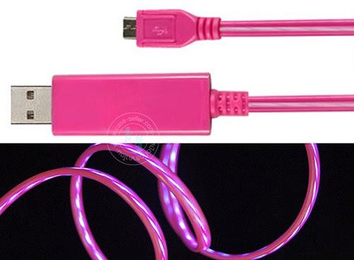 รหัสสินค้า 108043 สายชมพู-ไฟสีฟ้า