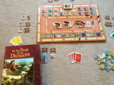 In the Year of the Dragon board game by Rio Grande Games