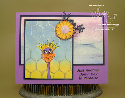 Picture of handmade Frizzle in Paradise Card