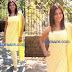 Sindhu Tulani in Yellow Embroidery Sleeve Less Salwar kameez