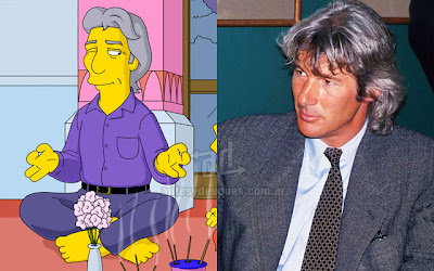 Richard Gere simpsons wartis+kartun Tokoh tokoh selebriti dalam serial kartun The Simpson