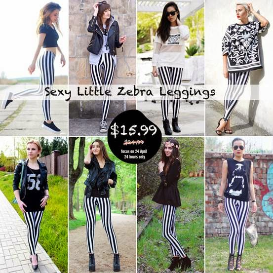 little zebra leggings big sale on romwe