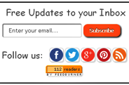 RSS Subscription Widget With Social Buttons For Blogger