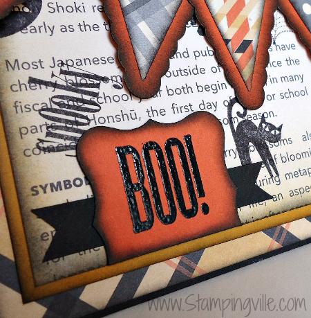 BOO Greeting - Elegant Halloween Card