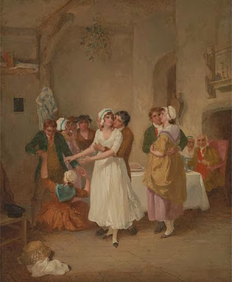 The Mistletoe Bough, 1790, painted by Francis Wheatley.