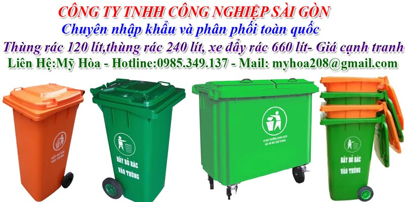 thùng rác công cộng:120 lit,240 lit,660 lít Mỹ Hòa 0985 349 137